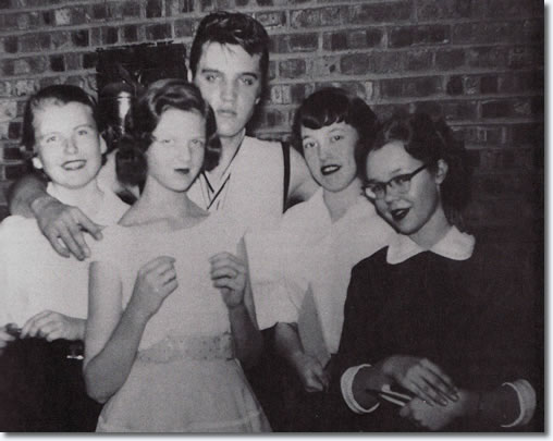 Elvis Presley with fans March 1956