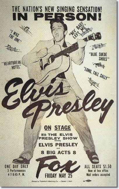 Elvis Presley Detroit, MI. Fox Theater May 25, 1956