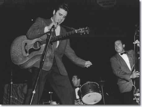 Elvis Presley at the Cleveland Arena, Ohio - November 23, 1956
