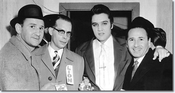 Elvis Presley E.H. Crump Memorial Football Game - November 30, 1956. With the Lansky Brothers.