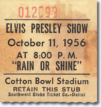 Ticket - Dallas, TX. Cotton Bowl Oct 11, 1956