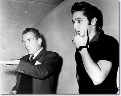 Elvis Presley and Ed Sullivan : The Ed Sullivan Show Press Conference : New York, October 26, 1956.