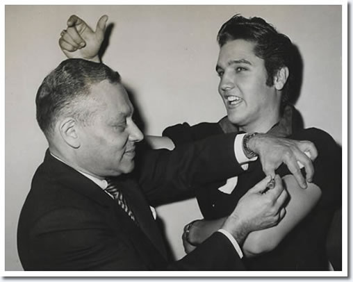 Elvis Presley gets his Polio Shot - October 28, 1956.
