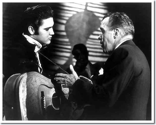 Elvis Presley and Ed Sullivan : Rehearsals : The Ed Sullivan Show : New York, October, 1956.
