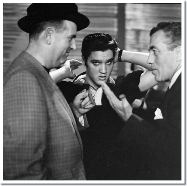 Colonel Tom Parker, Elvis Presley and Ed Sullivan : Rehearsals : The Ed Sullivan Show : New York, October, 1956.