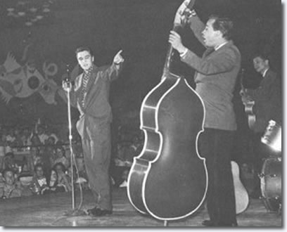 Elvis, Bill and Scotty performing in the Venus Room at the New Frontier.