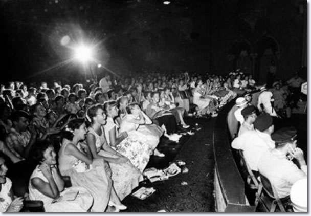 Teenage fans during Elvis' appearance at the Florida Theatre.
