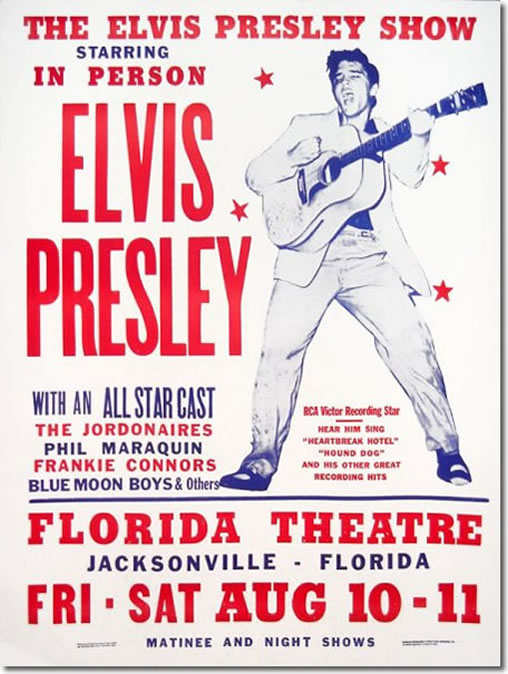 The Poster : Elvis Presley : Fort Homer W. Hesterly Armory, Tampa, FL : July 31, 1955
