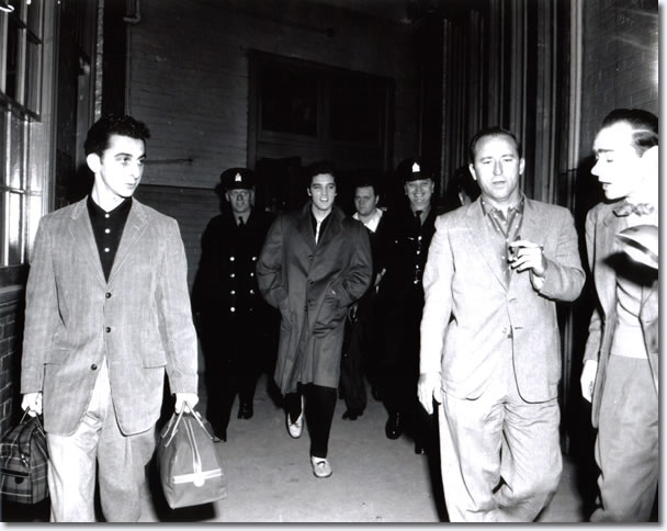 Elvis in his car after arriving at Ottawa's Union Station on the morning of April 3, 1957