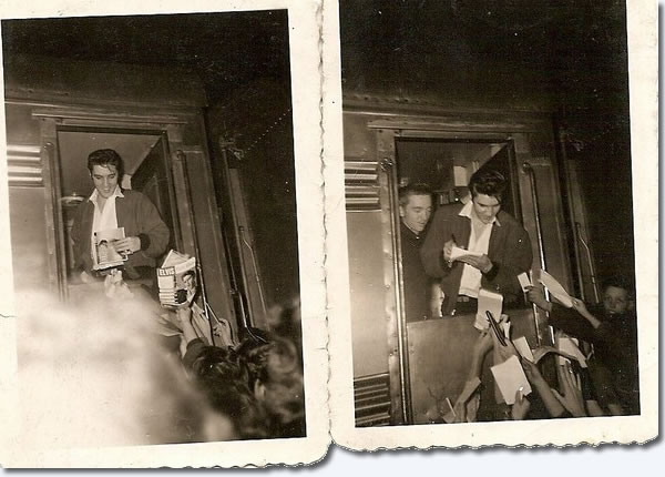 Elvis, Monday evening, January 7, 1957 folowing his last appearance on the Ed Sullivan show.