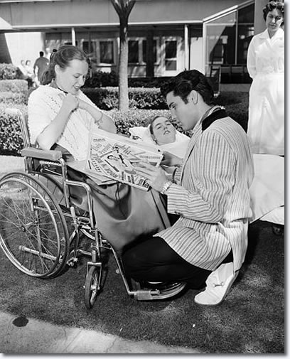 Elvis Presley - May 1957 with Children with polio