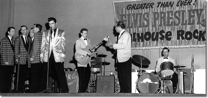 The Jordanaires, Elvis Presley, Scotty Moore, Bill Black and DJ Fontana Pan Pacific Auditorium - October 28, 1957