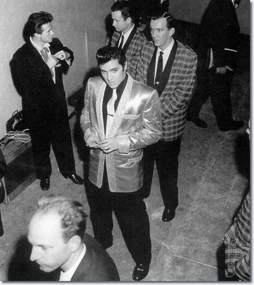 Elvis Presley - backstage - Pan Pacific Auditorium - October 1957