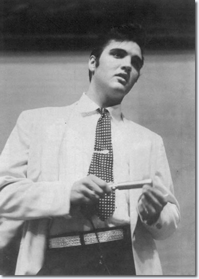 Elvis at press conference at Multnomah Athletic Club - Sept. 2, 1957