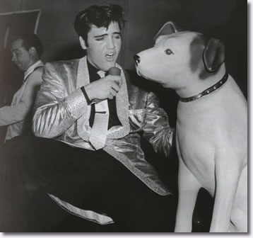 Elvis Presley and 'Nipper' Pan Pacific Auditorium - October 28, 1957