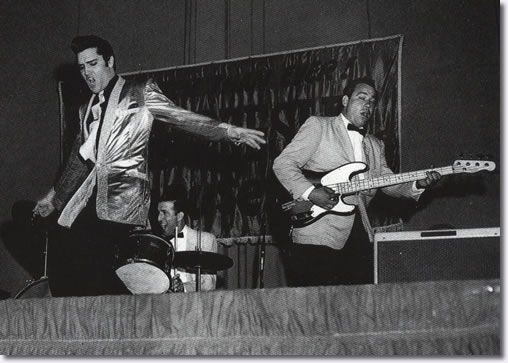 Elvis Presley, DJ Fontana and Scotty Moore rock the Pan Pacific Auditorium - October 28, 1957