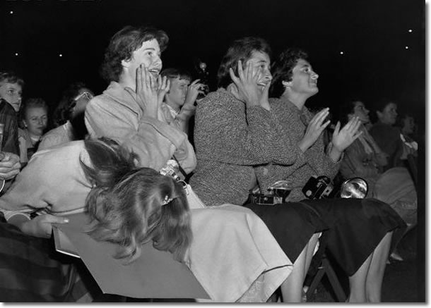 Elvis Presley Fans Seattle, WA. Sick's Stadium (eve) September 1, 1957