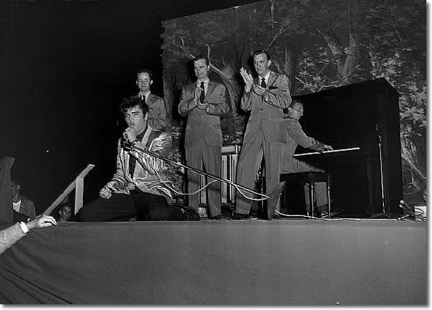 Elvis Presley live on stage Seattle, WA. Sick's Stadium (eve) September 1, 1957