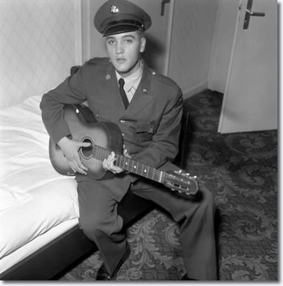 Elvis Presley at his hotel room at Ritters Park Hotel in Bad Homburg, first weekend of October 1958.
