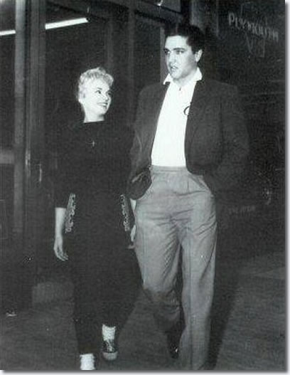 Anita Wood and Elvis Presley March 19, 1958
