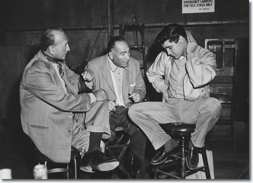 Director Michael Curtiz,Producer Hal Wallis and Elvis, Tuesday 11th February / Thursday 20th February/Monday 24th February 1958 - Paramount Studios, Hollywood.