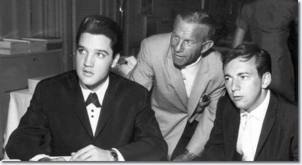 Elvis Prsley, George Burns and Bobby Darin : Sahara Hotel : July 26, 1960.