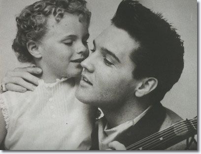 Elvis Presley and Sheila Riddell : March 24, 1960 Fontainebleau Hotel