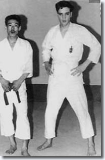 Elvis with Shotokan Sensei Tetsuji Murakimi in Paris January 1960