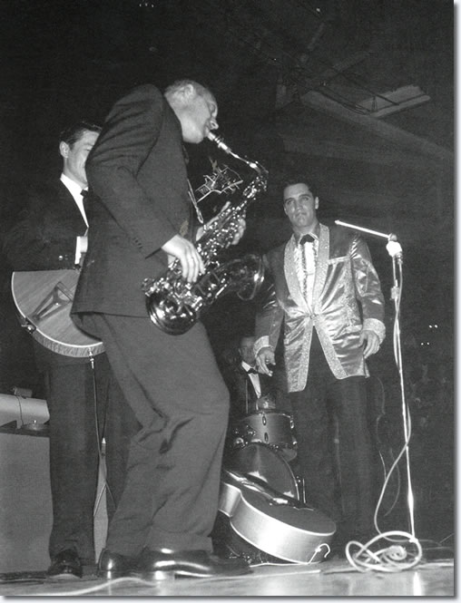 Boots Randolph and Elvis Presley : March 25, 1961 : Honolulu, HI. Bloch Arena : U.S.S. Arizona Benefit Concert.