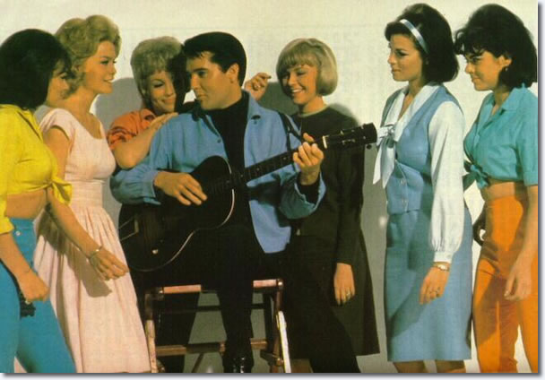Roustabout publicity picture. Raquel is the second from the right, in the blue.