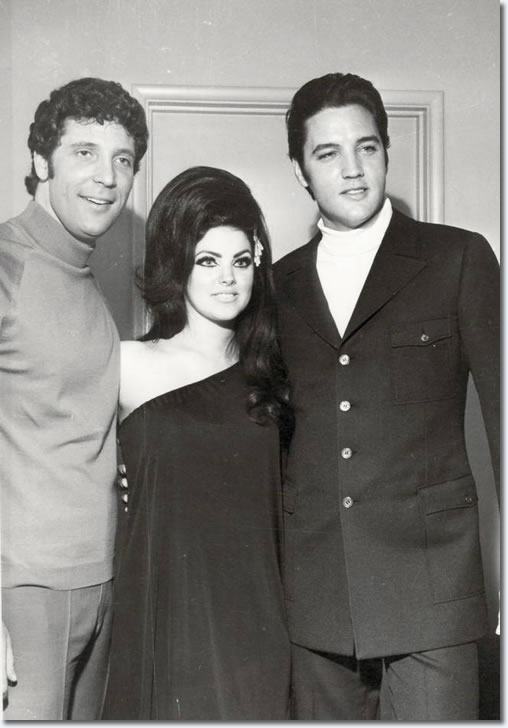 Tom Jones, Priscilla and Elvis Presley: Flamingo Hotel, Las Vegas : April 6, 1968.