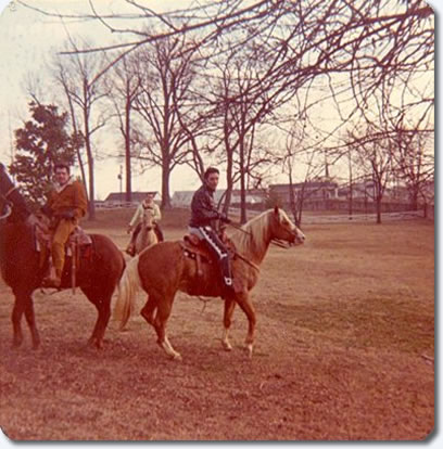 Elvis Presley : Horseback riding at Graceland : February 9, 1968