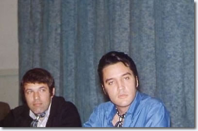 Steve Binder (Producer/Director) and Elvis Presley.