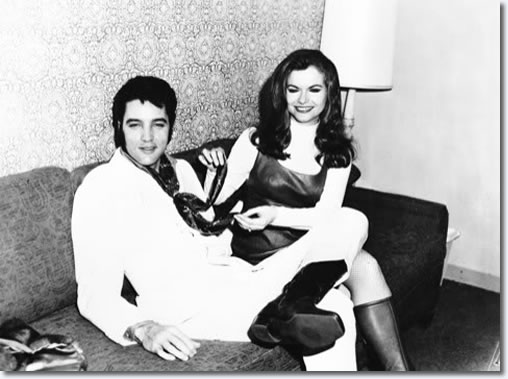Elvis Presley with Jeannie C. Riley : Ferbruary 6, 1969 : Flamingo Hotel, Las Vegas, NV.