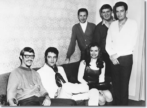 Elvis Presley with Jeannie C. Riley and her band : Ferbruary 6, 1969 : Flamingo Hotel, Las Vegas, NV.