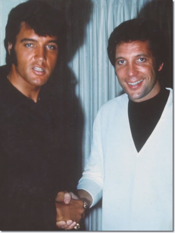 Elvis Presley and Tom Jones : The Flamingo Hotel : June 10, 1969.