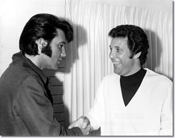 Elvis Presley and Tom Jones : The Flamingo Hotel : June, 10, 1969.