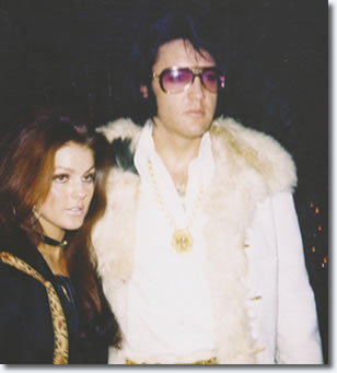 Priscilla and Elvis Presley : New Years Eve Party at TJ's : December 31, 1970.