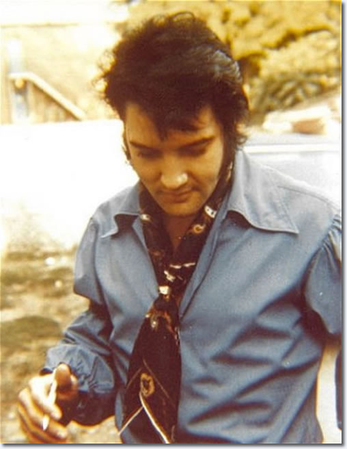 Elvis Presley arriving at Studio B on June 4, 1970.