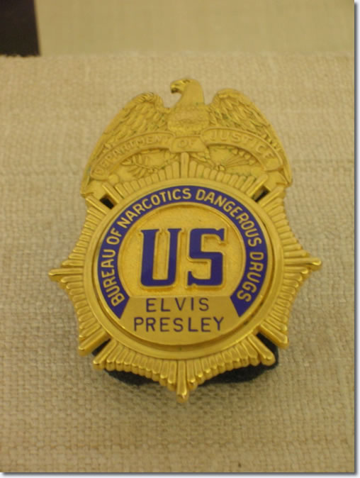Elvis Presley's Badge - Bureau of Narcotics and Dangerous Drugs
