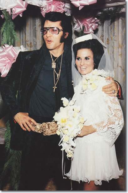 Elvis Presley and George Klein's bride, Barbara Little