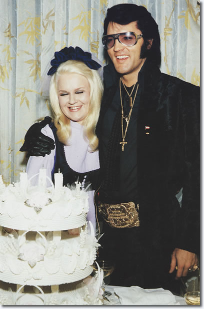 Elvis Presley and guest at George Klein's wedding, December 5, 1970