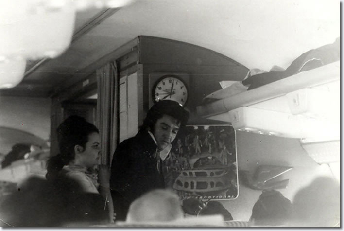 Elvis Presley - on a plane to Denver to collect a police badge - November 1970