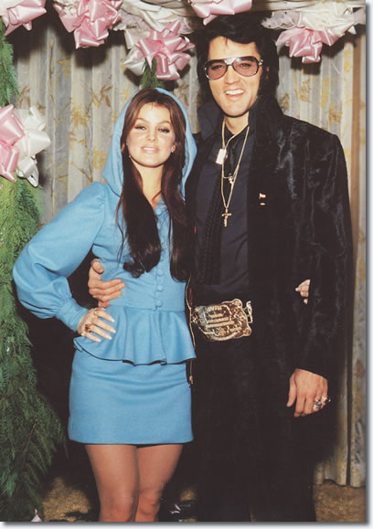 Priscilla and Elvis Presley at George Klein's wedding, December 5, 1970