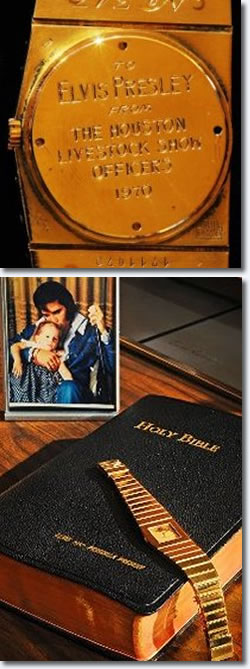 Gold Rolex given to Elvis Presley
