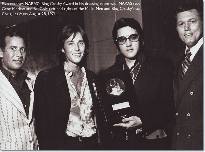 Elvis Presley : Receiving the Bing Crosby Award : August 28, 1971