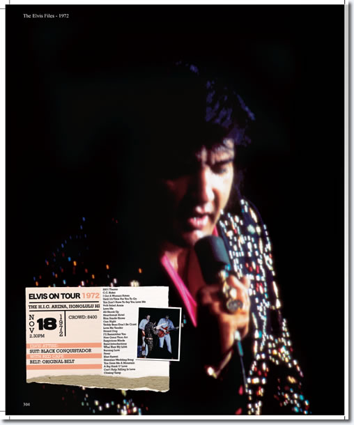 Elvis Presley : November 18 1972 : The H.I.C. Arena, Honolulu, Hawaii.