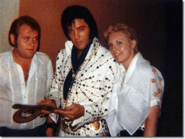 Elvis with some Swedish fans - August 31, 1973 in Las Vegas