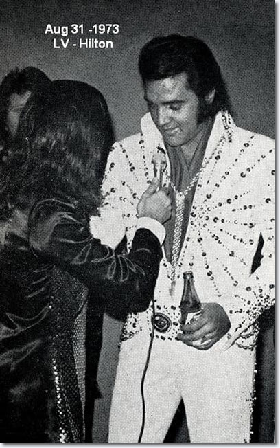 Elvis Preley with Tony Prince - August 31, 1973