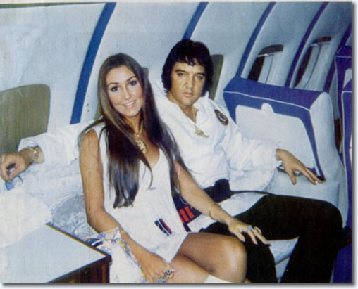 Elvis Presley and Linda Thompson : July 1, 1973.